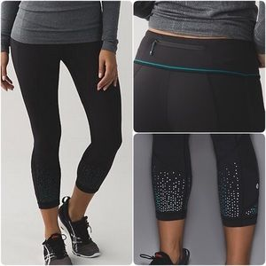 Lululemon Pace Rival Crop Lights Out